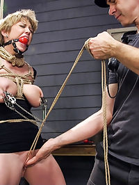 Darlings Sexual Destruction : A special feature for the New Year, starring very special slave meat Darling. Darling is a hardcore masochistic fuck slut and we take the intensity straight to eleven right out of the gate with this one. Darlings body is looking phenomenal and takes the rope great. Gags, multiple nipple clamps, squirting orgasms and hard anal fucking for days start the New Year off right!