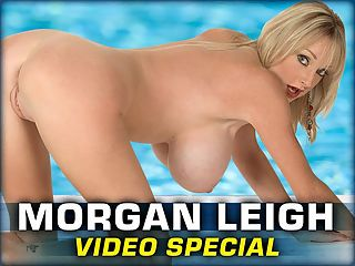 Morgan Leigh Video Special : In part one of this Morgan Leigh double-feature, the Brit blonde wears a skimpy swimsuit thats made for her slim and busty body. In part two, Morgan plays the kind of bartender only found in dreams.br br I loved playing with myself on-camera, and I loved going out on location and people watching me, says Morgan. I wear little tops and tube tops, and they always fall off. Its quite funny. I mean, Ill be walking down the street and a boob will pop out, and everybody will be watching and pointing. And I always wear bikinis to the beach, and my bikinis are really not the right size for me, and they quite often fall off. Thats quite a scene, too!br br Welcome to Morgan Leighs bar after Morgans bikini bash. Shes opened a new pub and youre invited to drink shots off her slim-n-stacked body. Sound good? Even though beautiful Morgan shows her huge tits within three minutes, youll still be climbing the walls during those three minutes. Morgans personal and up-close videos are hotter than many porn stars hardcore scenes. Few come close to Morgans talent for naughty talk in her Brit accent. Shed have made a great phone sex operator.br