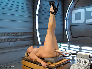 Platinum MILF takes an Anal Pounding!! : This Blonde-Haired, MILF goddess begged to be on Fucking Machines and her dream came true! First she rubs her perfect, giant tits while the hitachi orgasms her into ecstasy. She then show cases her absolutely flawless, long, stunning legs as Dr. Thumper pounds her from below. And the legs just keep on coming as she lies on her back, and gets fucked by our fastest and strongest machine. The cherry on the top of this Angel cum cake, showcases her anal hunger as she bends over and lets a fuck-saw delight her into paradise. Angel has answered all of our Fucking Machine Prayers!