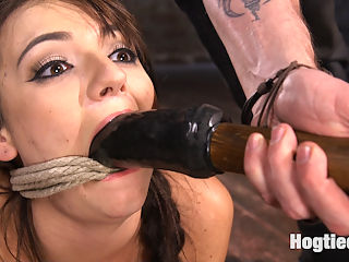 All Natural Southern Belle in Brutal Bondage, Tormented, and Devastating Orgasms!! : Charlotte comes to me and says I hear you are the one to talk to about getting tied up and smiled. She is going to get exactly what she is looking for today. I get to know her in the first scene then intensify the bondage put this slut on the right path the path of not fucking around. Next she is in an extreme predicament on her knees. She is totally fucked and she knows it which makes her squirt. Pegs are applied to her sensitive skin then whipped off one at a time. Shes never been suspended so she goes up into an inverted hogtie. She is flogged and toyed with before being allowed to orgasm again. Her pussy is dripping as soon as I touch it, which proves that this whore cant help but be turned on by whats happening.In the final scene Charlotte will suffer through one last predicament. She is psuhed to the point of breaking and then fucked until she cant handle anymore stimulation.