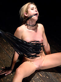 Rush of Pain : Goldies petite body gets chained to the floor in a sitting position.Every limb and her neck is chained to make her as helpless as possible. The torment comes quickly and the room is filled with her screams. She acted like this was all new to her, but this slut settled in to the pain as easily as I slid my fingers in her soaking wet pussy. We continue through the day, experimenting with different kinds of punishment and suffering. Each ends with the reward of a monster orgasms, but I think she would be OK without them.