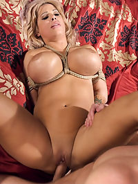 Dominating My Girlfriends Moms Big Fake Tits : When Jasmins slutty mom tries to seduce her step daughters sheepish boyfriend, she unleashes his dark side. Mom gets slapped, electrocuted and tied down for a punishing, tit bouncing fuck that makes her sorry she hit on her innocent daughters boyfriend.Alyssa Lynns big fake tits look amazing tied up and bouncing as she gets pounded by Michael Vegas. This movie includes taboo love, big tits, ball gags, flogging, bondage and rough sex.