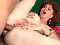 Hows a little anal sex for an encore? : The first time we saw Shirley, a nasty, slutty, dirty-talking MILF and GILF from California born in Cleveland, Ohio, she was taking on a big, black cock in her worldwide on-camera sucking and fucking debut. And now, for an encore, Shirley is going to get ass-fucked by a big cock. Shes going to get her face all sloppy with cum, too. Way to go, Shirley!br br I love being watched, Shirley said. Its exciting to know someone is watching me and enjoying every minute, jacking their hard cocks to me, watching me getting fucked in the ass. When Juan was fucking my ass, I couldnt stop thinking about how many guys were going to see it and jack off while I got fucked in my ass.br br Well, thats one way to put it, Shirley.br br Usually, I have to get to know a guy before Ill let him have my ass, she said. Maybe Ill have given him a few blow jobs. Maybe well have fucked a few times. But not this time. It was fun to have anal sex with a guy Id just met.br br Shirley has DD-cup tits. She says she enjoys organizing community events. Swinging is not one of those community events, but it could be because Shirley has had some pretty wild parties, too. Shes a nudist. Shes into gangbangs. She says she watched her first scene on 50PlusMILFs.com with a special friend. But by the time it was over, I had his cock in my mouth.br br Wonder what will happen when she watches this scene?