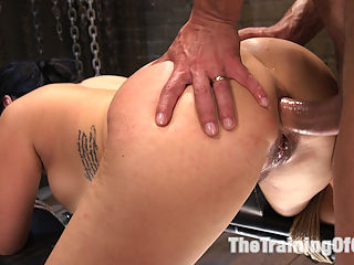 Training Big Tit Asian Anal Slave : Kimmy Lee is a gorgeous Asian slave girl that offer up her big tits and fine ass to slave trainer Marco Banderas in this Anal Slave Training update