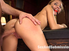 Anal Domination of Holly Hendrix : Hot little Holly Hendrix agrees to do anything Master wishes if he ties her up, even give up her tiny ass to his huge cock. Holly begs to be split wide open by Steve Holmes big dick in her ass, and takes a good bit of corporal punishment, nipple clamps, gags and bondage to get what she really wants Total Anal Domination.