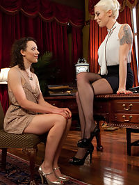 Lesbian Professor Seduces and Dominates Hot Co-Ed! : When hot university student Lilith Luxe visits Professor Lorelei Lees office hours, she learns a lesson that will change her forever. Seduced by Loreleis beauty and intellect, Lilith submits to spanking, finger banging, fisting, inversion, suspension, pussy licking, flogging, dick-on-a-stick, pussy and anal strap-on fucking, and a fist and strap-on DP!