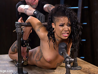 Alt Ebony Pain Slut Tormented and Made to Have Squirting Orgasms : Jessica is a sexy little bitch that says she can take anything that I dish out. She knows what Im capable of and the lengths I will go to make someone suffer. Lets hope she didnt let her mouth write a check her ass cant cash. Every position is designed to inflict suffering and pain. Then I come in and escalate her suffering to monumental levels. Every inch of her flesh is in pain and her pussy squirts to show her appreciation for the punishment.