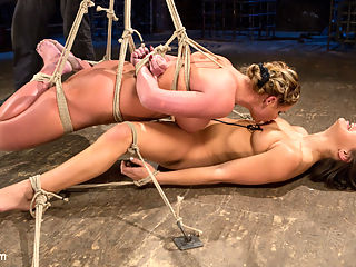 Phoenix Marie and Abella Danger Helpless in Bondage, Tormented and Made to Cum!! : What happens when you take a seasoned bondage model and pair her up with a new school starlet? You get one of the hottest bondage shoots of all time. You have the bombshell vixen known as Phoenix Marie helpless in tight rope bondage, and sexy young Abella Danger suffering like she loves to do. Phoenix is used to hurt Abella and to pleasure her. Abella gets totally destroyed with a mix of sadistic torment from The Pope and good old fashion bitting from Phoenix