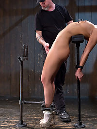 19 year old is Devastated in Brutal Bondage : Aidra is a young, hot slut that wants her boundaries tested. She may be young, but she is very in tune with her sexuality and knows what makes her pussy wet. Pain and suffering is what she wants, and thats exactly what she is going to get. Her body is subjected to brutal predicaments and halfway through the second scene her body gives out and w have to change positions. She is pushed harder than ever before and cant wait to have more.