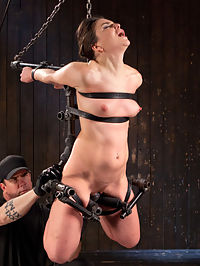 More Than She Can Handle : Juliette has a way to take pain and turn it into pure pleasure. This slut sexualizes everything that happens to her, and I plan to fuck her world up today. I know that shes capable of taking a lot, but this may be more than even she can handle. Her body is made helpless by the grueling bondage, her flesh is tormented, and her pussy controlled with pain and pleasure. This pain slut struggles to get through the day just to get her pussy a little pleasure.