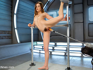 Flexible 19 Year Old Gets Machine Fucked : Kasey is a cute and innocent looking 19 year old that wants her turn on the machines. We show off her flexibility in the first scene and to our benefit we get to see everything with her legs spread so wide. We spend the day doing what any smart person would do, which is try to fuck this little 19 year old as much as we can before she leaves.