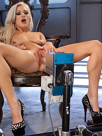 All Natural Blonde Bomb Shell Does Anal and Screams for More!!! : Girls dont come much hotter than Cameron Dee...platinum hair, long legs, soft curves, stunning smile, and deep desire to be rammed over and over again by our robotic minions. Holy Shit is she hot and we showcased all of her assets. First she pulls her legs back and gets a fast-fucking by the Satisfier and then shows off her never ending legs in a standing doggie position that will leave you drooling with desire. And then to put a cherry on top of this porn sundae she gets on her back and takes an anal pounding that leaves her breathless and cum drunk. This girl delivers the Fucking Machines goods!