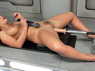 Phoenix Marie is Machine Fucked into Oblivion!! : Phoenix isnt a big fan of toys, she prefers the real thing, but today she is willing to take one for the team. She also has a very sensitive little pussy which makes our job easier. We pound her juicy pussy as hard as we can and watch as Phoenixs eyes roll back in to her head from the overload of orgasmic ecstasy. She is fucked until she cant take it, then switch the machine and start all over until she is finally fucked out!