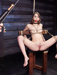 All Natural Beauty Learns to Beg For Cock : Zoey Laine learns the hard principles of Gratitude, Eye Contact and Availability at the end of a stick on Training of O. Zoey loves nipple clamps, canes, gags, bondage and getting fucked hard with totally helpless.