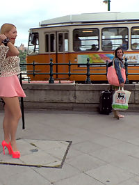 Busty Blonde Isabella Clark Public Double Penetration - Part 1 : Big Tit Blonde Isabella Clark is here to show off her amazing asshole to the public of Budapest! But first Steve Holmes takes this slut out in public for a deep throat blowjob. People are just amazed and shocked to see this whore suck down Steves giant cock in public! Isabella is then strapped down in leather bondage and a ball gag and taken to an open restaurant where the rowdy crowd gets to watch this slut perform! Caning, Flogging, Corporal Punishment, Tit Slapping, Anal, Double Anal, Double Penetration, Anal Fisting!!! This true whore takes it all and then licks it all up afterwards!