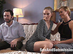Anal Therapy : When Mona Wales and Tommy Pistol attend Couples Therapy to try to save their crumbling marriage, Dr. Cheri Deville discovers the root of their problem Anal Sex.Hot three way action featuring Cheri DeVille and Mona Wales into each other and taking it in the ass to save the relationship. Tommy Pistol turns the tables on both domineering women when he puts them in bondage and gags for hardcore BDSM and rough anal sex.