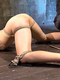 First Timer in Extreme Bondage with Brutal Tormented, and Made to Cum : Lilith is new and learning what she likes and dislikes. She wants to be pushed to see what her limits are, so I push this slut as hard as I can. The day begins with extreme pain to se what this little slut is made of. Her nipples and pussy lips are clamped and then stretched. The impact ranges from flogging to the deep thud of punching. Her pussy is fucked dry and then we move on to the next position. Her ass is up and every sensitive spot is caned on her body before her pussy is fingered banged into screaming orgasms. The suspension is going to test her ability to get through grueling bondage. She hangs from a single point that is tethered around her waist, but to really torment her the final scene will test everything that makes her thinks she is the strong woman she claims to be.