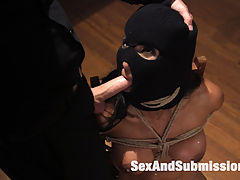 The Subversive : When protest leader Sadie Santana becomes a problem for a leading candidate, the campaign dispatches The Fixer. Tommy Pistol handles the the problem with his usual aplomb and toolbox of hardcore BDSM Action and Rough Anal Sex!Hooded and masked hottie Sadie Santana is a strong willed protester with an attitude! Tommy chips away at her searing will with heavy humiliation, gags, whips, bondage, sexual interrogation and straight up hardcore sexual domination.