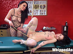 Slut For Life : Smokin hot tattoo artist Veruca James tests young sluts commitment to provocative tattoo ideas with spanking, tons of pussy licking, finger banging, face sitting, clothespins, bondage, caning, and pussy and anal strap-on fucking!