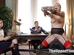 Tax Day The Slave and The Bad Girls Anal Punishment : When The Upper Floors head butler discovers Zoey Laine has been covering up the missteps of house slave Dahlia Sky the two are given punishment according to the ways of The House spankings, floggings, anal punishment and uncontrollable orgasms in strict rope bondage.