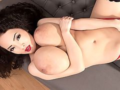 The Miracle of Hitomi : One of the all-time greatest slim naturals, Hitomi is once again iSCORE iModel of the Year. This is the third time that readers have awarded the beautiful girl from Tokyo with this title. Red lingerie suits Hitomi, and the best part is seeing her peel it off to give us a big boob bonanza with nipple self-sucking and pussy-rubbing. Hitomi is in Prague this time, mainly to get it on with Lily Madison and lick Lilys pink.br br D.K. from Oyster Bay, New York found his happy place reading the contest results and let us know. I didnt think wed ever see the day that one girl would win Model of the Year three years in a row, but Hitomi has done it! I dont know if this makes her the greatest iSCOREi Girl ever, but it definitely puts her in the discussion. This is an especially notable feat considering that we live in a time when everyone is always asking for the new thing. It just goes to prove that a beauty like Hitomi never gets old.