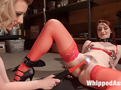 Pick Your Poison Anal pain slut bound, beat and fucked! : Cruel and sexy dominatrix Cherry Torn allows hot pain slut Violet Monroe to pick her implements of torment. Violet takes tons of spanking, the zapper, fingerbanging, nipple clamps, flogging, a hard caning, face sitting, a but plug and dildo DP, a thumb in ass with pussy strap-on, and an orgasmic anal strap-on fucking!