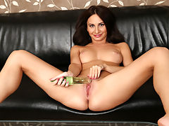 Beautiful long hair babe Lana Ray shows off her stunning body. She caresses her soft skin and plays with her firm tits. Once this cum hungry european is all naked she slowly starts to rub her bald twat. Once she cant take anymore she inserts a glass toy and toy fucks her pink pussy until she reaches orgasmic pleasure.