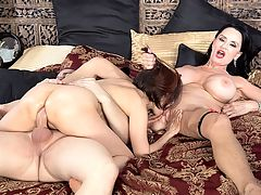 Rita Daniels and Kim Anh in the filthiest 60something 3-way ever : In a scene that can only be described as epic, 65-year-old Rita Daniels and 63-year-old Asian GILF Kim Anh share a 22-year-old and take his cock in their mouths, cunts and assholes. Weve been waiting for this for a long time. After all, Rita discovered Kim.br br After an interview, Rita gives Kim an enema. This is something that usually goes on behind the scenes, but we thought youd enjoy seeing it. Rita gets Kim on all fours and says, Doesnt she have the prettiest butthole youve ever seen? I think I should lick her asshole to lube it up.br br Rita then spits on Kims asshole and inserts the enema. She rubs it in.br br Look at that fuckin pink pussy, Rita says before she goes in for a lick. I love pussy.br br Then the guy shows up. Hes 22 years old. The following happensbr br 1. Kim sucks his cock while Rita sucks his balls. br 2. The ladies take turns sucking cock and eating each others assholes. Rita loves hearing Kim say asshole. Kim says Ritas asshole is delicious.br 3. Rita rides the cock while eating Kims pussy.br 4. Rita rides the cock while Kim sucks the dudes balls.br 5. More shared cock-sucking and balls-sucking.br br We interrupt this description to wonder how the guy hasnt blown his load yet.br br 6. Kim rides the cock while Rita watches the action.br 7. More shared cock-and-balls sucking.br 8. Rita rides the cock with her pussy then lies back, gets her legs back and takes the cock up her ass while Kim plays with her tits.br 9. Rita gets ass-fucked while Kim eats her pussy.br 10. Kim gets ass-fucked while eating Ritas pussy. Meanwhile, Rita is licking the guys balls.br 11. The guy finally shoots his load on Ritas face and Kims ass.br 12. Rita licks the cum off Kims ass and pussy.br br Best 60PlusMILFs.com scene ever?br