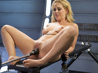 Hard Bodied Blonde MILF has Earth Shattering Orgasm from the Machines : Cherie is back and this time she has the machines all to herself. She wants to push herself and see how many times she can orgasm before she just cant take it any more. We lost count, but you can bet that we didnt stop until she tapped out!!