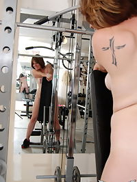 SpunkyAngels Curvy Spunky Angels babe Misty strips naked in the gym as cools off from her workout : Curvy Spunky Angels babe Misty strips naked in the gym as cools off from her workout