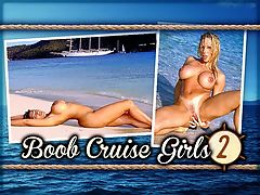 Boob Cruise Girls 2 : Boob Cruise Girls 2 features knockout brunette Angel Eyes, who opens this edition, followed by Summer Leigh at the surf and doing acrobatics on the bow of the ship Star Clipper and ends with Heather Hooters in a wooded area on one of the islands. These three had everyone on-board panting the entire trip. br br Summer Leigh was offered the job of writing a diary for the Boob Cruise week and she accepted. This is an excerpt that describes Summers shoots seen in this video.br br The island is gorgeous. Its a small one called Green Cay. At first we started shooting at the bottom of a palm tree, but I told the photographer I wanted to go by the water. What a long day! Fun though! When I finally got back to the ship, what did I end up doing? Masturbating? No, I wish! I did more posing on the bow of the ship while we sailed to a place called Sopers Hole where we anchored.br br At night, the girls performed their striptease routines on-deck as the guys clicked away or rolled their video cameras. A lot of money could have been made that week running a tissue concession. Strictly for camera lens cleaning purposes, of course.br