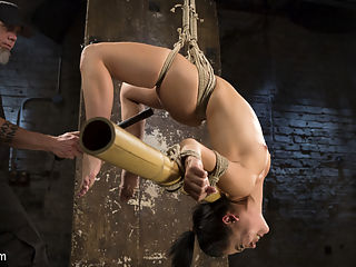 Feisty Latina is Captured in Grueling Bondage, Tormented, and Ass Fucked : Kristina Rose is back and shes hotter than shes ever been. Kristina is a classy bitch that likes to let her hair down and be tormented in bondage. Shes such a masochistic submissive who is willing to endure almost anything to please her dominant, that you cant help but want to punish her. She is subjected to extreme bondage and menacing torment before she is fucked in the ass and made to cum against her will.