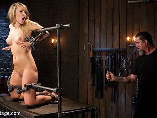 Punishing the New Slut : Harley is brand spanking new, and I have a decision to make. Do I spend the time teaching this bitch the way we do things around here, or do I leave that for someone else? I choose to see what shes made of and test this newbie to see if she is worth any other directors time. Shes got a bodacious ass, shes young, and willing, so we have a good foundation. she is put into the devices and then, little by little, she gets put through the wringer. By the end of the day she has been tormented to tears, and proven that shes worth another shot.