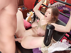 Eye Candy : Stella Cox likes to play games. She plays in her room with her big box of toys nipple clamps for her big, beautiful all natural tits. Anal toys for her round and hungry ass. But what Stella really wishes for is someone to dominate her - to take her in hand and fuck her hard in the ass, someone to make her their bitch. Stellas fantasy fuck comes to life when Seth Gamble appears to make Stellas dirty dreams come true. Hard bondage, corporal punishment, gags, clamps, and lots of rough anal sex take Stella from fantasy to the reality of BDSM.