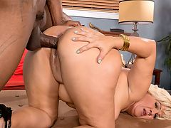 Interracial MILF Booty : MILF might not be the right word for a chick like Lori Suarez. When a spicy Latina like Lori is in front of you, shes a bitch youve gotta fuck.br br Lori cant get enough dick, either. She says she likes to keep her pussy worked out by fucking at least once a day.br br I love having sex, Lori said. I like sex with men and women, but I really love dick. I really love black dick. They get me hot.br br Lucky for her, we served up the biggest, black cock weve got for her and her phat ass. She knows how to pop it, and our man Lucas Stone knows how to rock it.br br Lucas lays it down on Lori from multiple positions. She pops her pussy for him while riding his cock, and then he beasts on her pussy missionary and doggy style. Youve gotta mix it up for a girl like Lori. She says shes a party animal, and shes been known to get down at a few swingers parties.br br Im a swinger, she says. People watching me have sex and watching them have sex turns me on. I like to have a guy fucking me and another cock in my mouth.br br Lucas has all the cock she needs right now. When hes done working her, he releases a load all over her asshole. This bad bitch just got fucked.