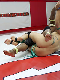 Beautiful Big Tittied Blond takes on Muscle Bound Ebony Goddess : Beautiful Big Tittied Blond, Angel Allwooed takes on Muscle Bound Ebony Goddess, Kelli Provocateur in 100 competitive sex wrestling tournament. This is REAL wrestling and in REAL wrestling there can be injuries. Unfortunately we had one today but FORTUNATELY everyone is safe. This match ends after 1 and a half rounds of wrestling. The girl with the most points at the stoppage is deemed the winner and will move on the fight Cheyenne Jewel in the Summer Vengeance tournament. Winner takes no Mercy on the Loser. Loser must worship the winners body, get fucked in the pussy and take extreme anal with a HUGE strap on cock. Loser is left gappingNote to members, ultimate Surrender Updates will go up on Wednesday starting August 3rd.