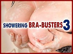 Showering Bra-busters 3 : Latina sex kitten Daylene Rio, British natural Emily Cartwright and Czech babe Melissa Mandlikova are the showering bra-busters in the latest volume of this series.br br Heres the difference between a guy and a iSCOREi or iVoluptuousi Girl.br br Guys throw their clothes on the floor, go into the shower, try to get out as fast as possible and flex their muscles in the mirror as theyre walking out of the bathroom.br br Chicks lock the door so no one can flush the toilet, carefully place their clothes and underwear in the hamper, use four or more different shampoos, conditioners, and shower gels, then use two or three face cleansers. After drying off with a towel as large as a bed sheet, they apply two or three body moisturizers. br br Except here they let the photographers in.