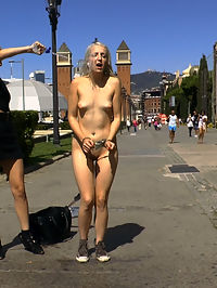 The Humiliation of Liz Rainbow - Part 2 Double Penetration : Liz Rainbow is back on Public Disgrace in Barcelona and ready to be completely humiliated in front of huge crowds!Part 1 Fitness DominationThis perky blonde slut needs a workout! And there is no better kink fitness instructor than Mona Wales. Liz Rainbow gets stripped down butt naked in public and jogs a few laps to show off her fat piece of ass in action. Followed by some naked burpees and ass kissing sit ups this slut gets the deep work out. What better fitness then fitting this fat dick in her mouth, Mona finds 2 huge public cocks to stuff down her throat while the audience gets to rip off a whole zipper of clothespins. Ouch! This chubby skank is a cock loving whore! Finally she gets a bath in a public fountain her hot cunt drenched in freezing cold water!Part 2 Double PenetrationLiz Rainbow gets tied up in some tight rope bondage and paraded around a crowded clothing store shocking customers. Everyone gets their hands on this filthy bitch. Customers get to slap her fat ass while she gets stuffed in every hole! Nipple clamps, Corporal Punishment, Caning, Hot Wax its all open! Finally for her last workout Liz gets fisted and double penetrated while everyone holds her down and then drenched in hot cum!
