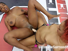 2 ebony goddesses battle in a competitive Sex Fight : Lisa Tiffian and Daisy Ducati are going to sexually abuse each other to see who can move on in the Summer Vengeance tournament. Daisy is confused as to why she is ranked 12th while Lisa is ranked 6th. Today one of these ebony goddesses in going to put the other one in her place. Brutal real wrestling these girls choke and slam each other and squeeze each other into submission. Winner Fucks the loser in the face, mouth and ass. Hair pulling, choking, pussy licking, anal, fingering....winner takes no mercy on the loser