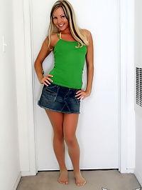 SpunkyAngels Petite blonde Aaliyah Love teases in her semi sheer skimpy string bikini : Petite blonde Aaliyah Love teases in her semi sheer skimpy string bikini