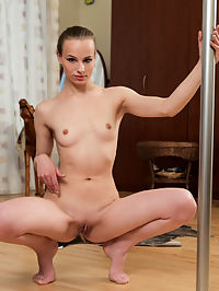 Nubiles.net Aurelia - Hot blonde amateur gets naked and rubs her pussy on stripper pole : Hot blonde amateur gets naked and rubs her pussy on stripper pole