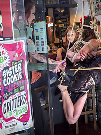 Shy Pretty Bitch Sings in Pain - Part 1 : Julia Roca - Part 1Julia Roca is a shy, perky, brunette, whore and is ready to sing in pain for the public. First up she is taken to the park and must perform for everyone there. Her pathetic voice and dancing offends most of the park goers! Luckily they all get a perfect view of her tight ass and hairy pussy. Silvia Rubi wants to show off her slave even more and parades her through the crowded streets for all to enjoy, then ties her up in rope bondage and lets the public have their way with her.Julia Roca - Part 2In the back of a crowded bar Julia Roca is stripped naked and humiliated in front of every horny patron. This slut needs to be taught a lesson in manners! The crowd gets to all write nasty things on her body before she is fucked by huge cocks. This whore is completely frightened of electricity which causes her to scream with every terrifying orgasm!