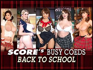 Back To School : This is the time of year when all nice girls go back to school. Theyre busy coeds preparing to hit the books again. Theyre busty coeds preparing to hit the stacks again. They dress for the part in their plaid skirts and tight blouses and they enjoy the looks they get from their male instructors and classmates and they dont care about the dirty looks they get from female teachers and classmates. When they walk and bounce across their campuses, its magic time.br br Starring, in order, Karina Hart, Hitomi, Felicia Clover, Melissa Manning and Valory Irene. Who would refuse to carry their books for them?