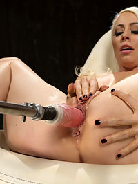 Blonde Goddess is Double Penetrated with Machines!! : Lorelei is back and holy fuck is she still as amazing as she has always been...maybe even better!! She is a true fucking machine and takes as much as we give her, then begs for more. We fuck her into orgasmic exhaustion, then fuck her ass and pussy at the same time to totally blow her mind.