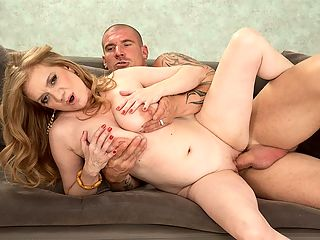 Busty Cilla rubs one out : Theres nothing silly about Cilla, a 47-year-old British wife and MILF. Shes curvy. She has F-cup tits. She loves to fuck on-camera. Here, she fucks Max, who gives her a massage and lets his hands wander down to her tits. She lets her hands wander down to his cock, although that was her intention all along. Before long...fucking!br br Cilla is only 51, but she has F-cup tits. Short n stacked. Impressive. Shes an exhibitionist. Shes also an escort. Her favorite movie is iDirty Dancingi. Thats no surprise. She doesnt play any sports because sports make her tits bounce and, besides, shed rather fuck. She said, I love mature men who know how to give a lady a good time.br br Hmmmm...what does she mean by a good time?br br I love to wear skimpy clothes that show off my best assets.br br She means her tits. Although she could also mean her pussy, although very few women walk around in clothes that reveal their pussies. Of course, there is cameltoe.br br A man can attract her attention by looking at the way Im dressed and appreciating my body.br br Is that really all it takes? If so, were in!