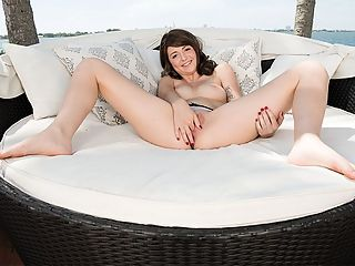 Winter is HOT : Occupation Student Lives Indianapolis, Indiana Age 19 Born April 17 Ht 55 Wt 115 pounds Bras 32D Panties I like lace Anal Nope BJs Spit Masturbate Rarely.br br Every girl we put in our magazines and on our website loves dick, but every once in a while a girl comes along who is absolutely obsessed with cock. Thats how Winter is. I dont even like masturbating that much, she told us. I like to watch porn to get me turned on, but then I need a fat cock to make me cum.br br Im a big sports fan. My favorite hockey teams are the Red Wings and the Blackhawks. My favorite football team is the Colts. If you want to get lucky on a date, take me to a game!br br I lost my virginity in a super embarrassing way. I snuck a boy from school into my house when my parents were sleeping. I didnt tell him that I was a virgin. I didnt know what I was doing. I let him eat me out, and I sucked his dick for almost an hour. His cock was enormous. It was seriously the size of my wrist. I couldnt help but scream when he shoved it inside me. I was biting a pillow, but it felt so good. I was practically yelling. My whole family heard me get my cherry popped.br br Winter is down in Florida for an extended vacation while taking some time off between semesters in college. I love going to the beach. I like to wear my bikini top, cowboy boots and hat along with a sexy pair of jean shorts. Im kind of a country girl at heart, and its such a fun and easy look. Plus, boys love it. The other day I picked up a couple of military guys who were down in Florida for leave. They were both hitting on me and not-so-discreetly arguing about who would get to fuck me. I took them back to a hotel and sucked one off while the other fucked me doggie-style.