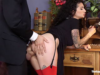 Arabelle Raphael Gets Sweet Revenge on Rich Bitch Violet Monroe : When newly enlightened Violet Monroe fires the help who are caught fornicating in her decadent family mansion they turn the tables on her and get sweet, hot revenge. Deep throat cock sucking, tight rope bondage, electric zappers, nipple clamps, pussy pounding, and huge orgasmic anal. With sexy, exotic Arabelle Raphael, her huge tits and Xander Corvus.