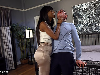Will Havoc Has Every Hole and Dream Satisfied by Sexy Black Cock : Will Havoc dreams of fucking a beautiful black woman, and finally gets his chance when his wife Cherry Torn sets him up with her gorgeous friend Natassia Dreams! Will can hardly contain himself waiting for the sexy lady Dreams to come over and fulfill every one of his dreams! As soon as she arrives, Will stammers and stutters, trying to explain to her how beautiful he thinks she is. But Natassia has heard it before! She tears this white boy virgin to shreds, fucking him deep and fast in his slutty asshole and choking him until he drools on her divine, sexy black cock!