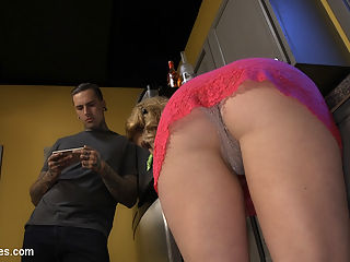 Husband Shaming An Anal Attitude Adjustment : Cherry Torn is fed up with her husband Ruckus sneaking all over the house jerking his dick to filthy porn when he isnt keeping her pussy satisfied. After another boring night in bed alone she catches him red handed, obsessing over tight little buttholes getting blown wide open by fat cocks. Suddenly it all becomes clear, shes been a sweet little wifey for her macho man, when what he really needs is an anal attitude adjustment. Cherry decides to purge Ruckus shame and guilt surrounding the male asshole by fucking the toxic masculinity right out of him. This treatment will continue until he can admit his true desires. For the sake of their marriage. Her lessons includes caning, flogging, pussylicking, ass worship, chastity, and deep, hard strap on fucking.