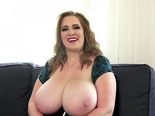 Meet Emma And Smile : Smiley Emma makes her debut at XL Girls and in this Bonus video, we get to meet and greet this cheerful Canadian chubette up-close and personal. She radiates a lot of feel-good energy, even in her pictures.br br Emma packs 44-inch mountains in her bras. Please be aware of how rounded her mounds are in her clothing and how sensational they are when she gets em out, with a smile, of course. She has a great smile.br br Emma talks about the challenges of finding proper bras that fit well and look right on her. She talks about the reactions she gets from people in her everyday life not as dramatic as our eye-popping reaction when she took her tits out during this chat. She talks about her hobbies and the care and nurturing of her dynamic duo. All with a smile and a giggle.